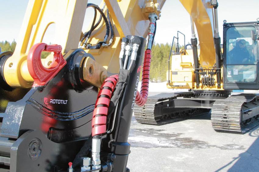 Rototilts nya maskinfästen har en stomme i seghärdat gjutstål och en kraftfull låskilskonstruktion som säkerställer glappfri användning.