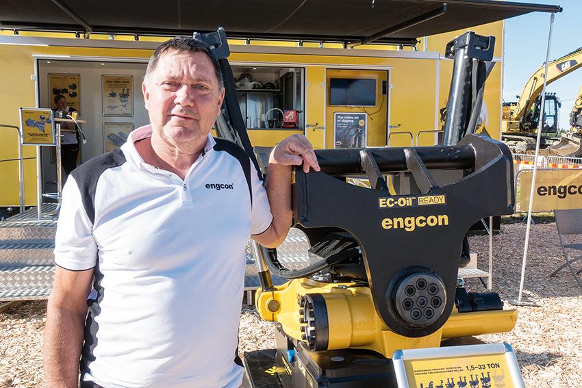 – För vår del känns det bra att varva Load Up North mellan Boden och Umeå säger Lars Rönnerstrand, försäljningschef på Engcon Sweden.