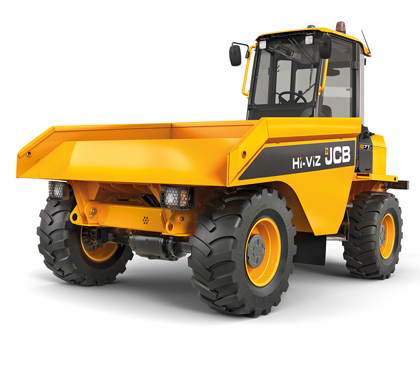 The unique JCB 7T-1 Front Tip Hi-Viz model.