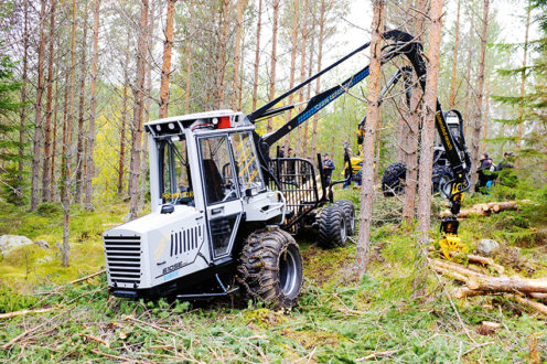 Inom Cranab group har alla företag haft en god marknadsutveckling under 2017. Vimek, som ingår i Cranab-koncernen lanserade bland annat nya modeller av skördare och skotare på Elmia wood-mässan i Juni. Foto: Per Eriksson