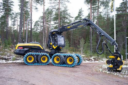 Den vanligaste skördaren i Finland var 2017 en Ponsse Scorpion King (41 maskiner) tätt följd av John Deere 1270G (40 st). Den vanligaste skotaren var en Ponsse Buffalo (50 st) och näst vanligast var Ponsse Elk (40). Foto: Per Eriksson