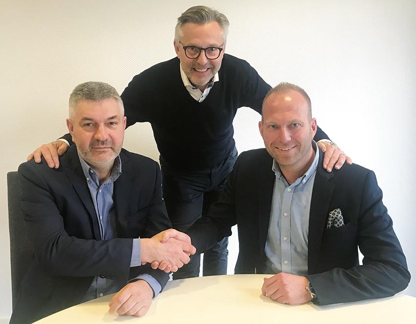 Från vänster: Johan Beermann, Per-Eric Troneus, Martin Nilsson. Foto: Norrvidinge