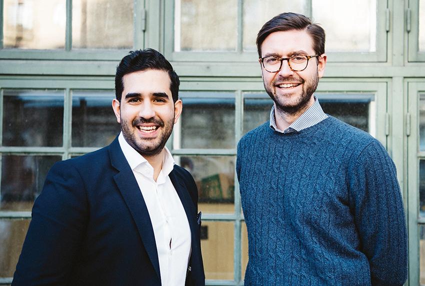 Adam Aljaraidah och Per Hedberg, grundare av Virkesbörsen.