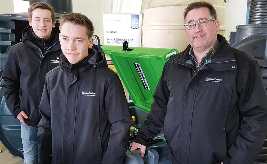 Från vänster: Carl Fritiofsson, John Fritiofsson och Mats Fritiofsson. Foto: EntreprenadLive