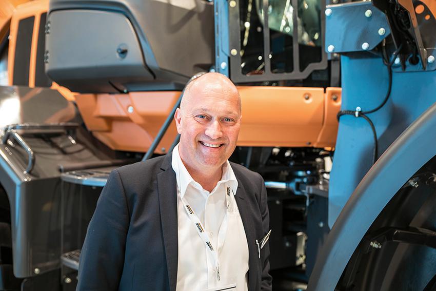 Carl Gustav Göransson, med chefsbakgrund inom bland annat Volvo CE och Cargotec, är sedan början av september 2016 direktör för CNH-koncernens segment inom entreprenadmaskiner, och varumärkeschef för Case Construction Equipment och New Holland Construction. Foto Per Eriksson