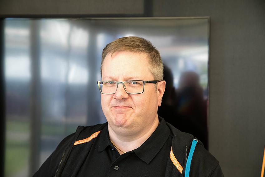 – My Sandvik har utvecklats med mer än 90 nya funktioner säger Johan Eriksson eCommerce Coordinator på Sandvik. Foto: Per Eriksson.