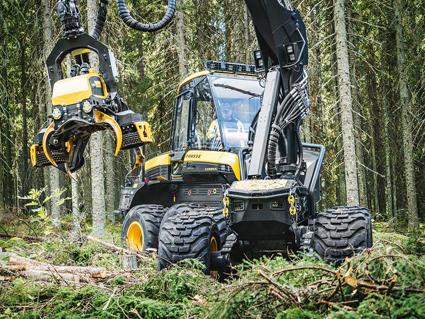 Ponsse lanserar en helt ny 8-hjulig allroundskördare med en 7,7 liters 6-cylindrig motor på 286 hästkrafter.