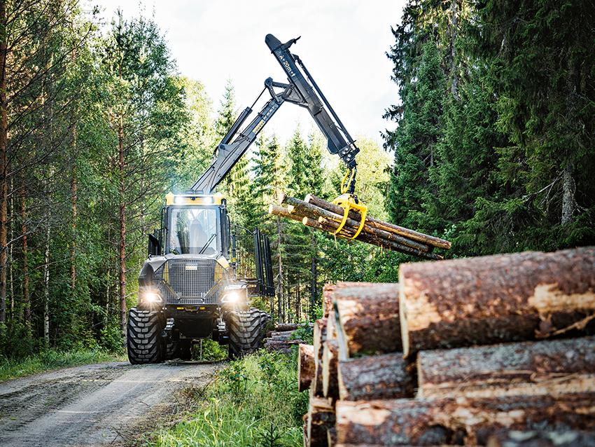 Ponsse Bison Active Frame med steglös transmission är en 16-tons skotare lämpad för långa transportavstånd.