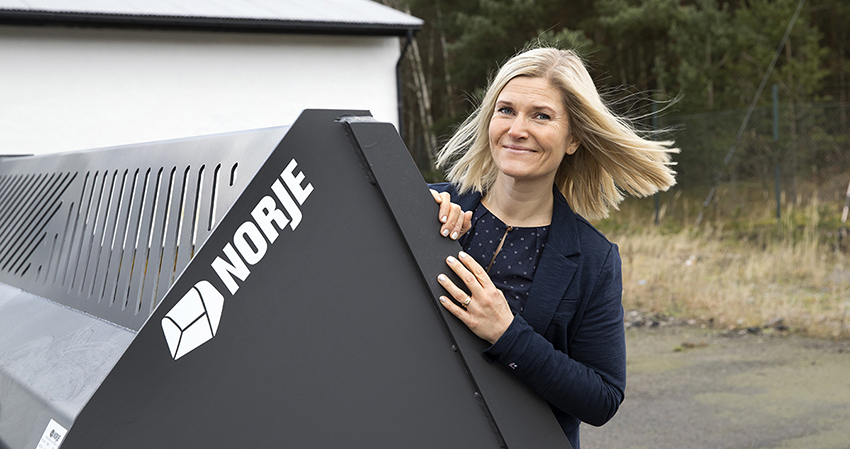 Jonna Hermansson, sedan 2013 vd på Norje Smidesfabrik. Foto Norjes Smidesfabrik.