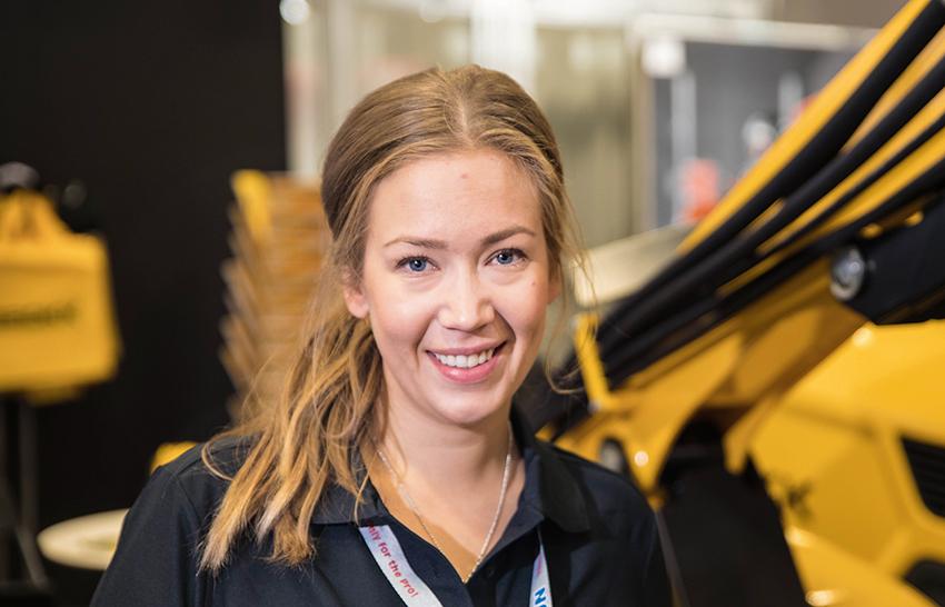 Britta Larsson, marknadskommunikatör på Brokk. Foto: Per Eriksson.