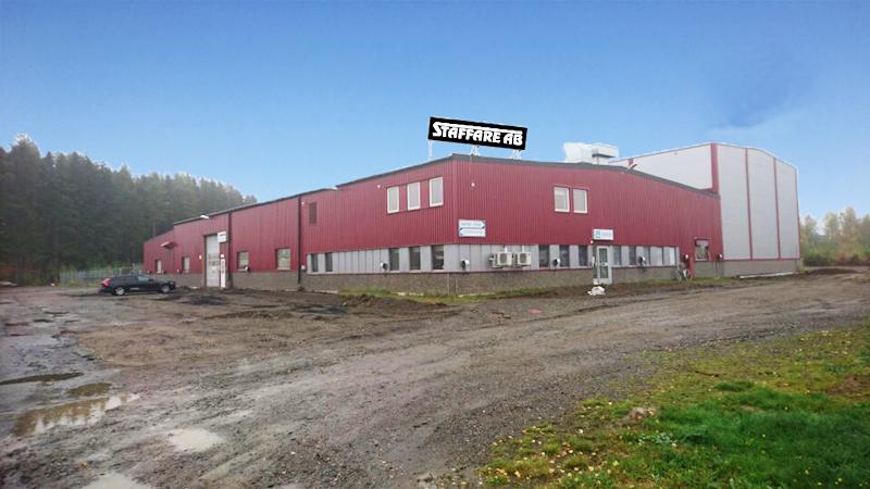 I början av december inviger Staffare nya lokaler  på Filtergränd i Skellefteå. I de 2030 kvadratmeter stora lokalerna har tidigare bedrivits en mekanisk verkstad och de byggs nu om för att passa Staffares behov. Foto/montage: Staffare AB.
