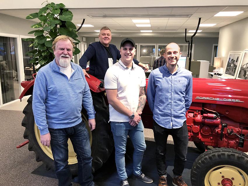 Klaravik välkomnar en ny kvartett. Från vänster Tony Andersson, Lars-Göran Kalla, Andreas Ekman och David Kvicklund. Foto: Klaravik.