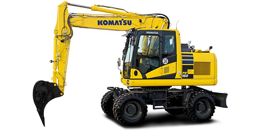 PW160-11_wheeled excavator