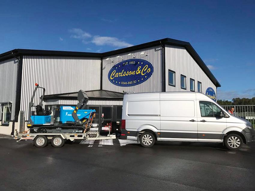 Ännu en leverans av Messersis storsäljande minidumprar från Carlsson & Co är på väg...
