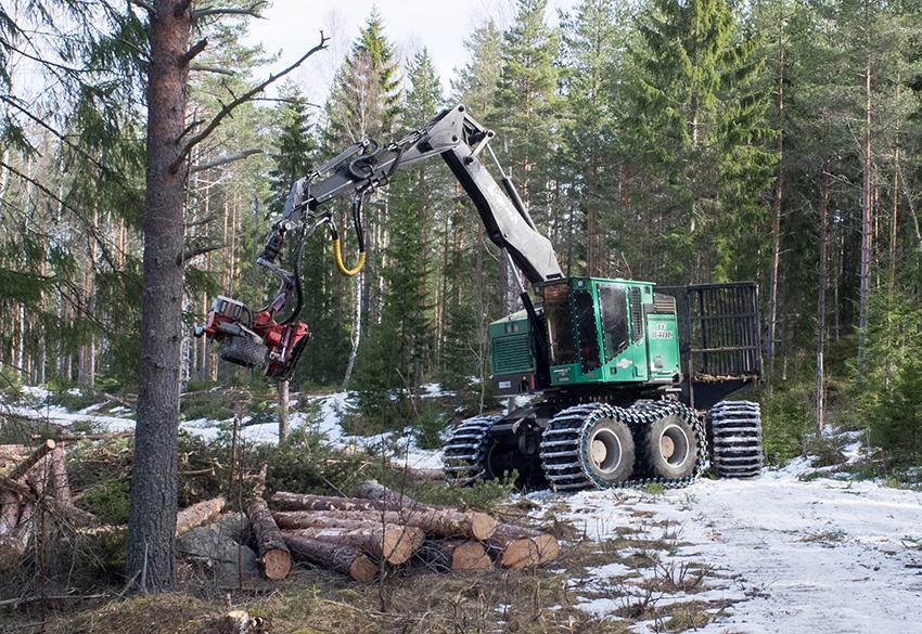 Komatsu Amerika köper den amerikanska skogsmaskintillverkaren TimberPro. Foto: Per Eriksson