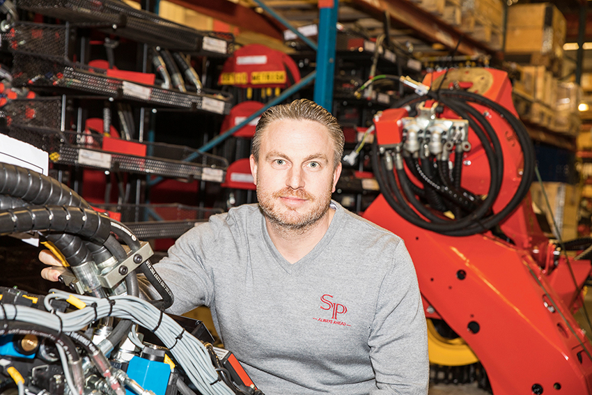 Martin Bredenfeldt, vd på SP Maskiner säger att företaget är väl positionerade på marknaden.