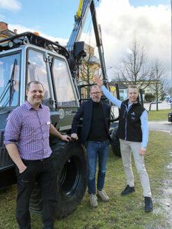 Fr.v: Erik Östergren, säljare på Malwa, Magnus Wallin, Äffärsområdeschef och grundare av Malwa och till höger Elmias entusiastiska Site manager, Anders Strandh.