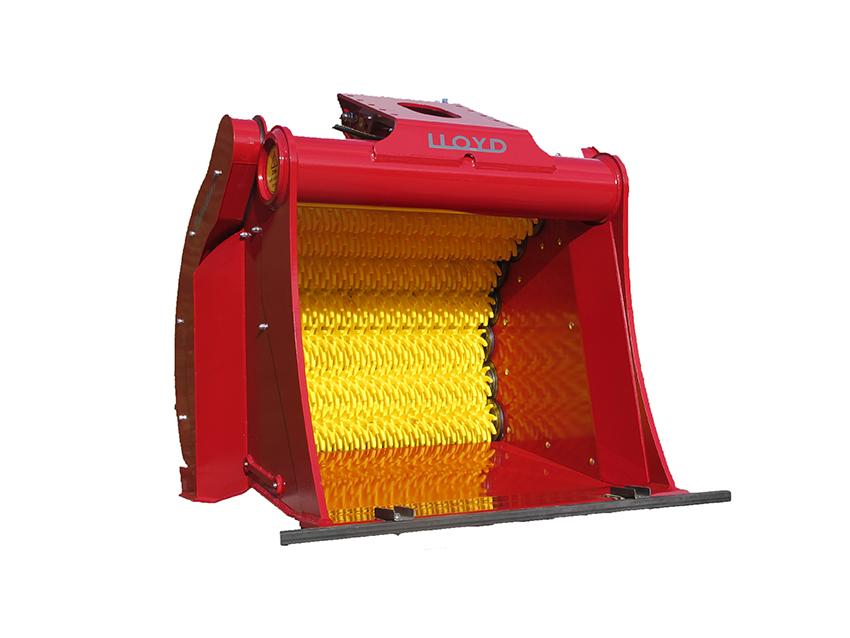Rotastar siktskopa finns i åtta storlekar för bärarmaskiner från 2,5 till 25 ton.
