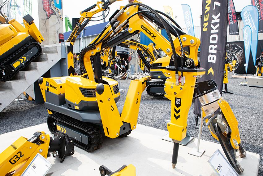 På Bauma var det världspremiär för Brokk 70 – världens minsta rivningsrobot på endast 560 kilo. Foto: Per Eriksson.