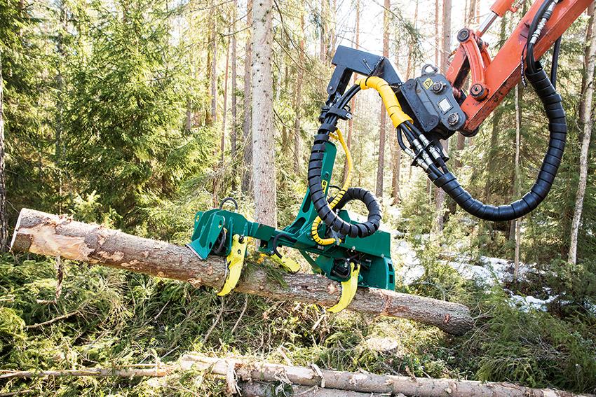 Kvistknivarna kan även användas som gripar för att hanterade fällda och kapade trädstammar.