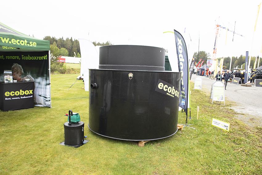 Skandinavisk Ecotech visade sitt minireningsverk Ecobox Small på MaskinExpo den 23-25 maj. Foto: Per Eriksson