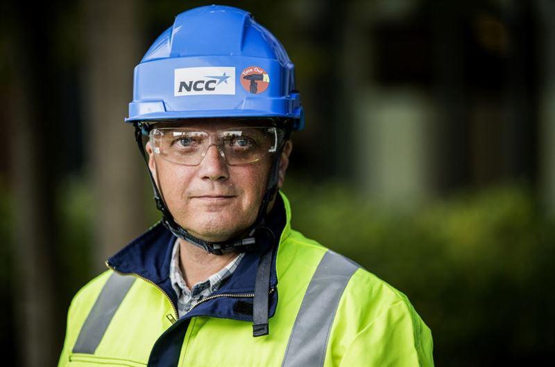 Lars-Gunnar Larsson, chef för Hälsa och säkerhet på NCC. Foto: NCC.
