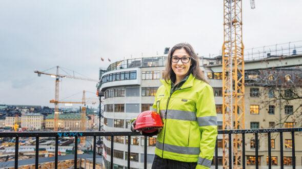 – Det som räknas i slutändan är vad vi åstadkommer och den inverkan vi har på de samhällen vi arbetar i, säger Skanskas globala hållbarhetschef Lena Hök. Foto: Skanska