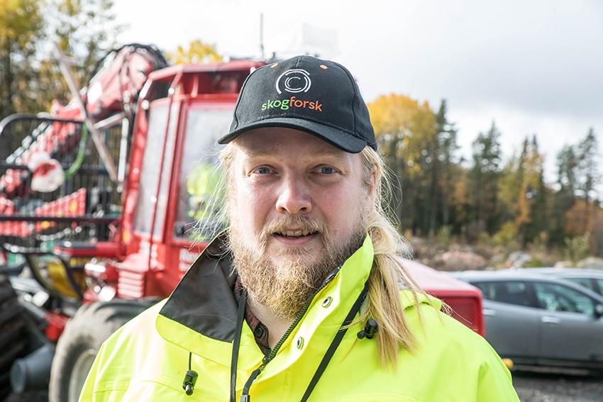 Tobias Semberg, forskare på SKogforsk.