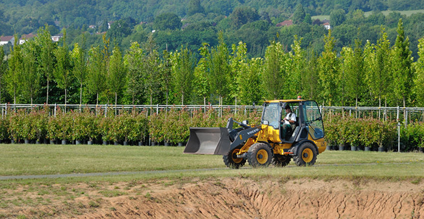 Leick Baumschulen is testing the first L25 Electric compact wheel loader from Volvo Construction Equipment, finding it to be a quiet, emission-free and easy-to-maintain addition to the tree farm and landscaping company's fleet.