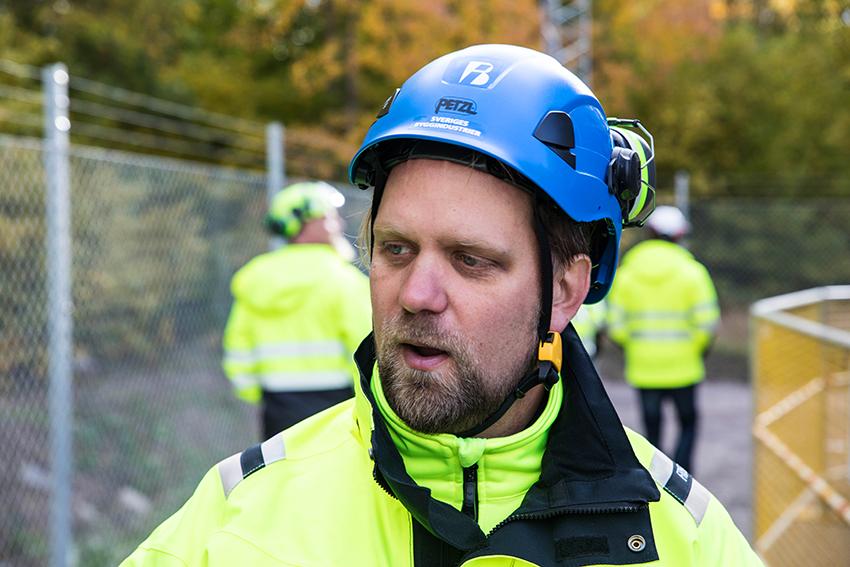– Byggbranschens säkerhetsparks idé är att skapa en branschneutral arena inom hälsa och säkerhet. Fokus ska ligga på tillämpat lärande där forskningsresultat ska omsättas till praktiska kunskaper och säkrare beteenden, säger Björne Karlsson, verksamhetsledare på Byggbranschens Säkerhetspark. Foto: Per Eriksson