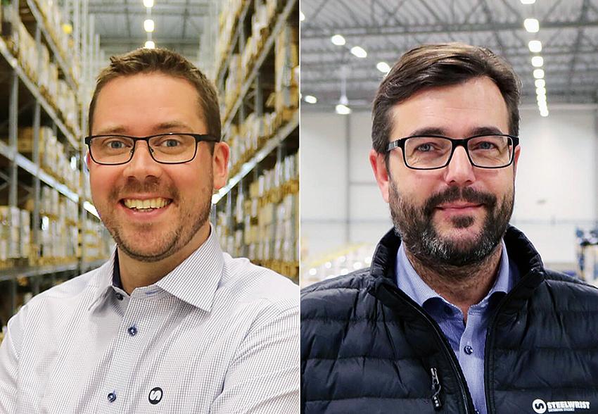 Toni Ylitalo är ny landschef för Steelwrist i Sverige och Danmark. Anders Persson är ny säljare på Steelwrist.