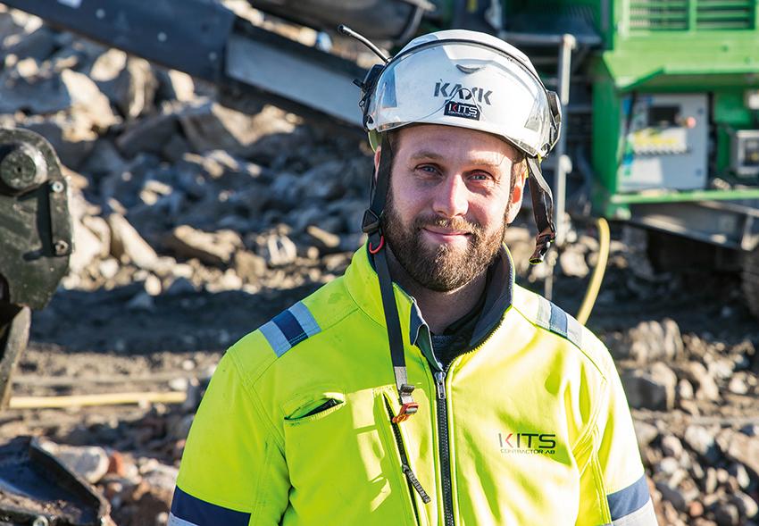 Johan Kits driver familjeföretaget Kits Contractor som inriktar sig mer och mer på återvinning på plats. Foto: Per Eriksson