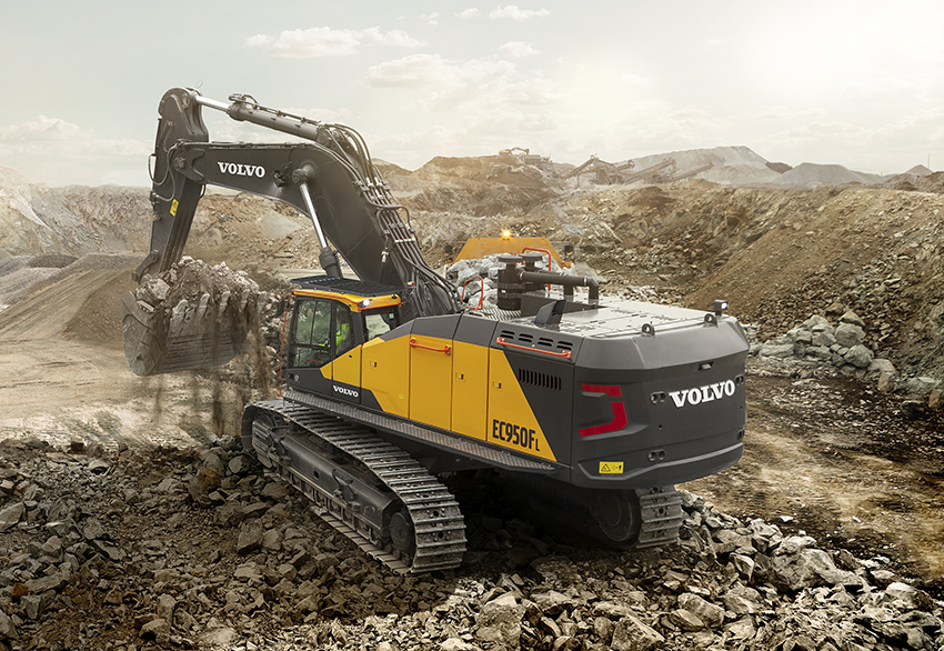 Hero image of the EC950F Crawler Excavator