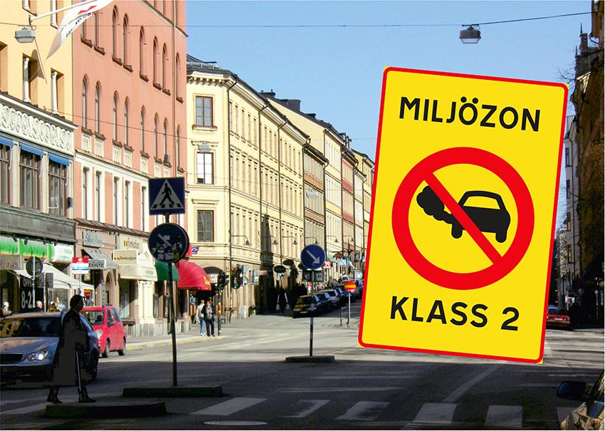 Miljözon klass 2 införs på Hornsgatan i Stockholm från och med den 15 januari. Införandet av miljözonen innebär att endast vissa typer av fordon får köra på Hornsgatan.