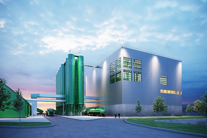 Ragn-Sells bygger ny anläggning för behandling av flygaska med sin patenterade teknik Ash2Salt. Bild: Ragn-Cells