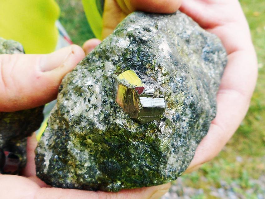 I Bergslagen finns många innovationskritiska metaller och mineraler bland annat oboltmalm från Storgruvan i Koppartorp. Foto: SGU
