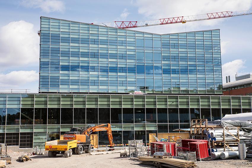 Utbyggnaden av Ångströmlaboratoriet är en viktig satsning för Uppsala universitet. I etapp fyra i byggprojektet är Akademiska Hus byggherre och NCC är entreprenör och är nu vinnare av Håll Nollans arbetsmiljöpris 2020. Foto: Per Eriksson